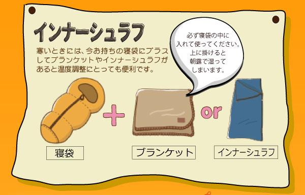 インナーシュラフ ブランケット 寝袋