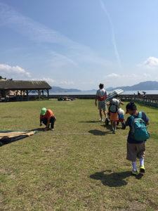 大久野島のキャンプ場