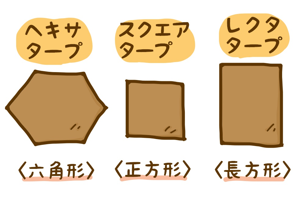 1枚布タープの種類