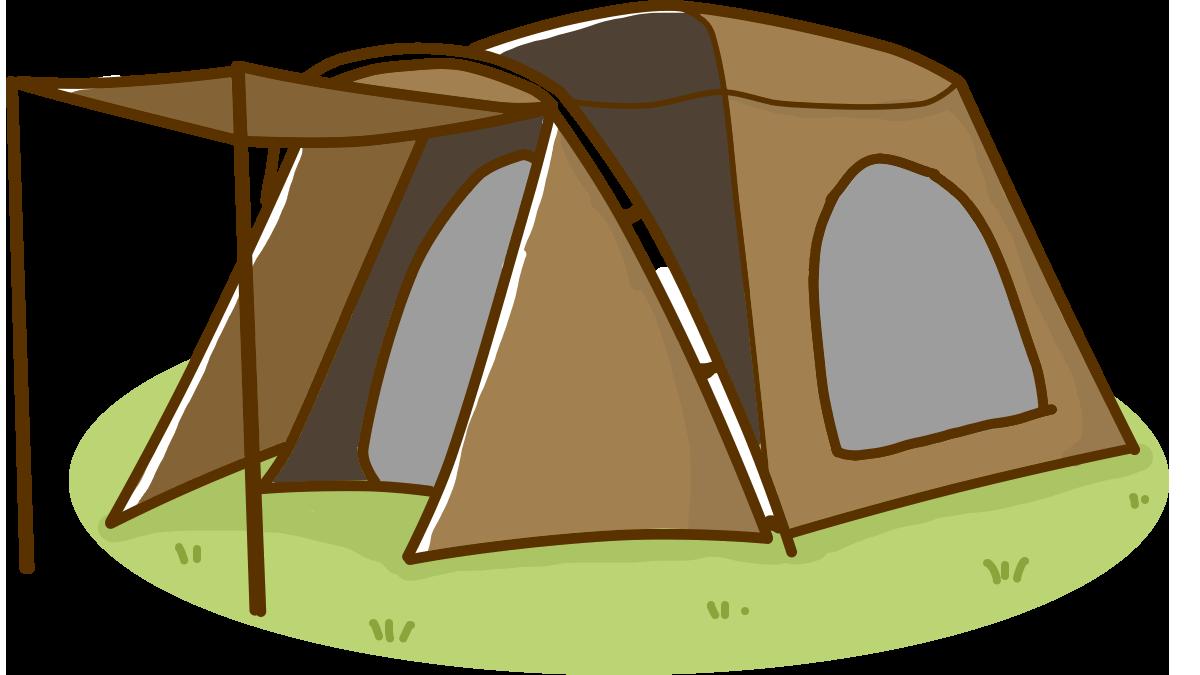 ドーム型テントイラスト