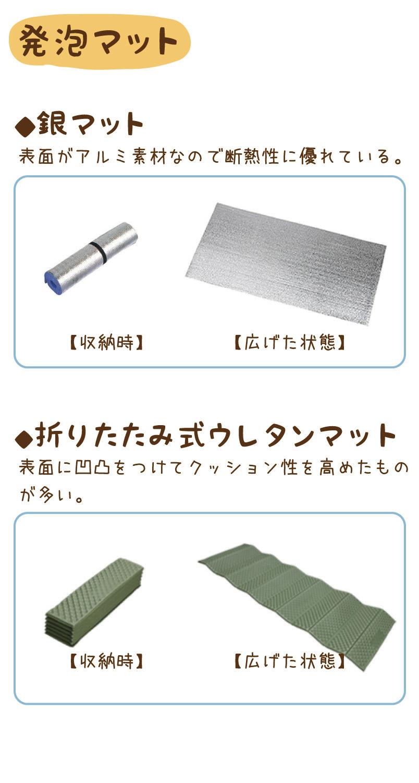 発泡マット|銀マット・折りたたみ式ウレタンマット