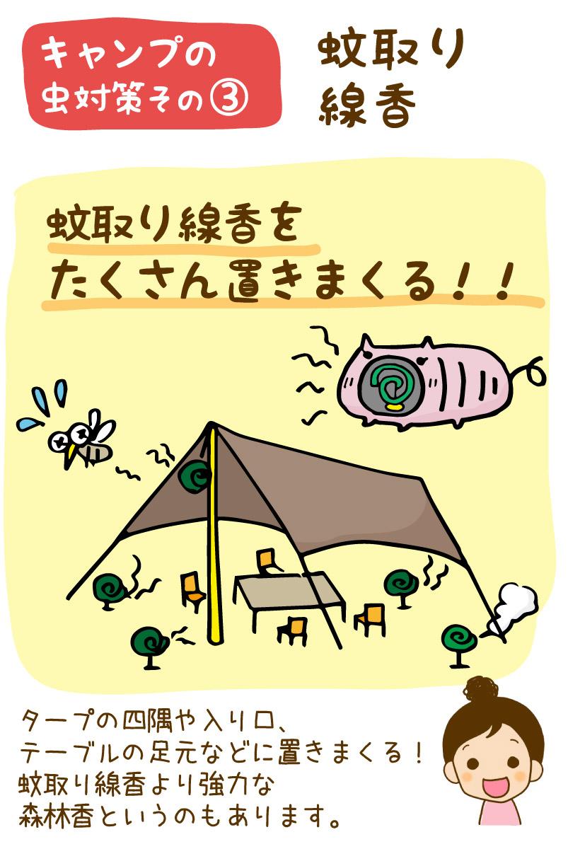 キャンプの虫対策・蚊取り線香