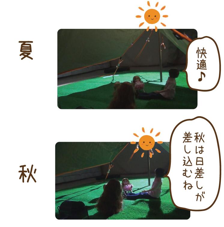 正午の太陽を想定した実験夏秋の場合