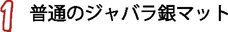 ①普通のジャバラ銀マット