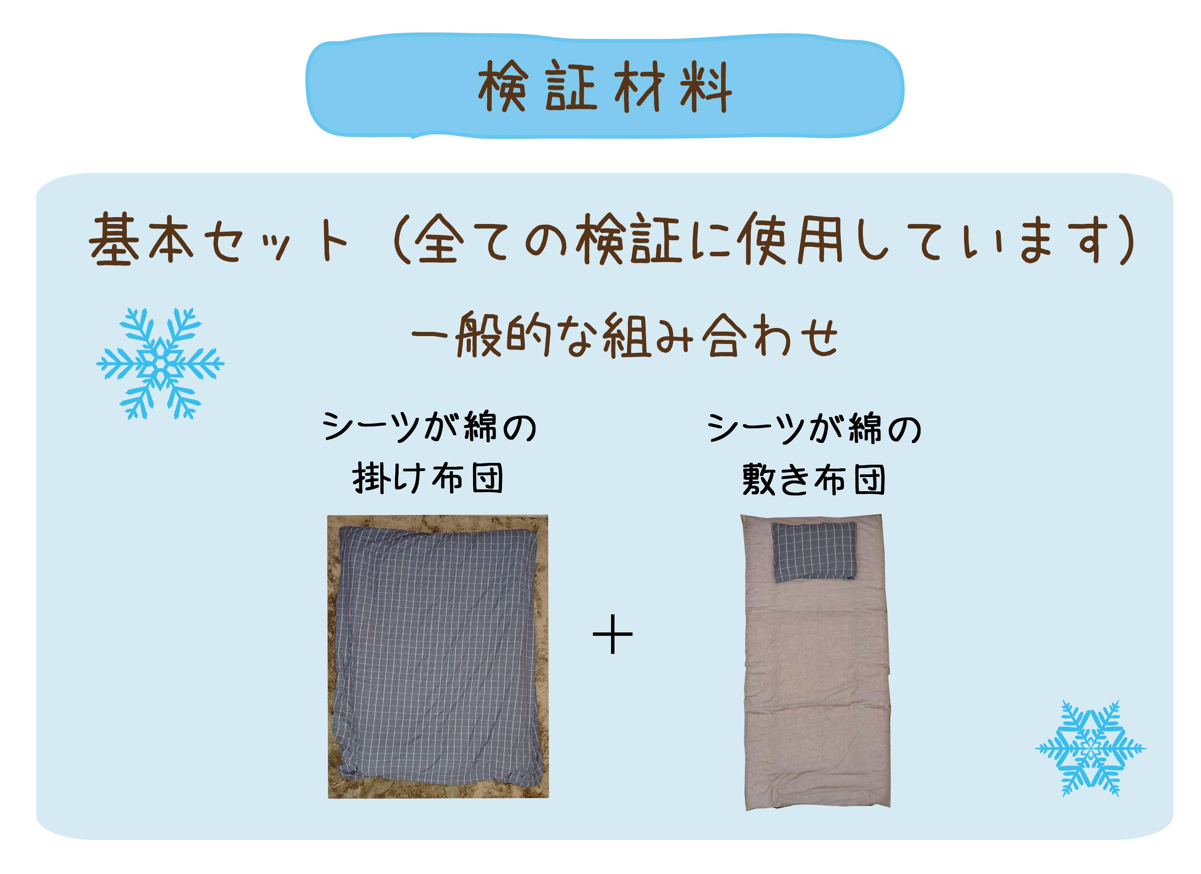 基本セット(シーツが綿の掛け布団+シーツが綿の敷き布団)