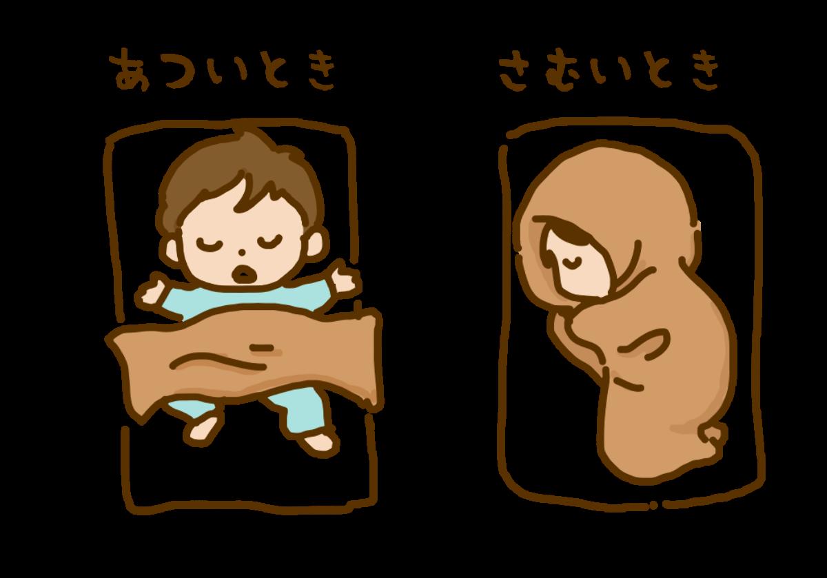 布団のくるまり方の違い