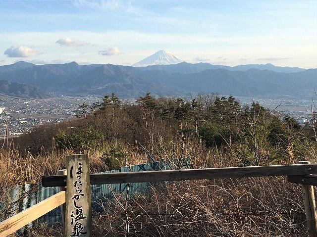 【冬キャンプ】温泉から富士山