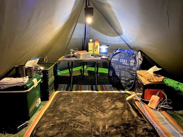 【冬キャンプ】電気毛布