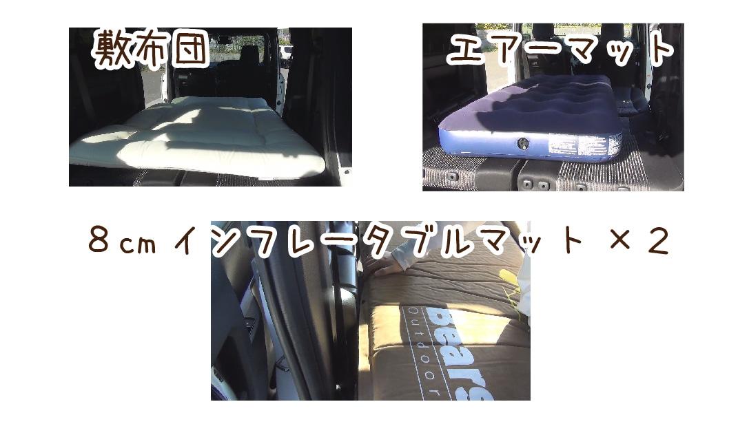 検証用の敷布団・エアーマット 8cmインフレータブルマット2枚の写真