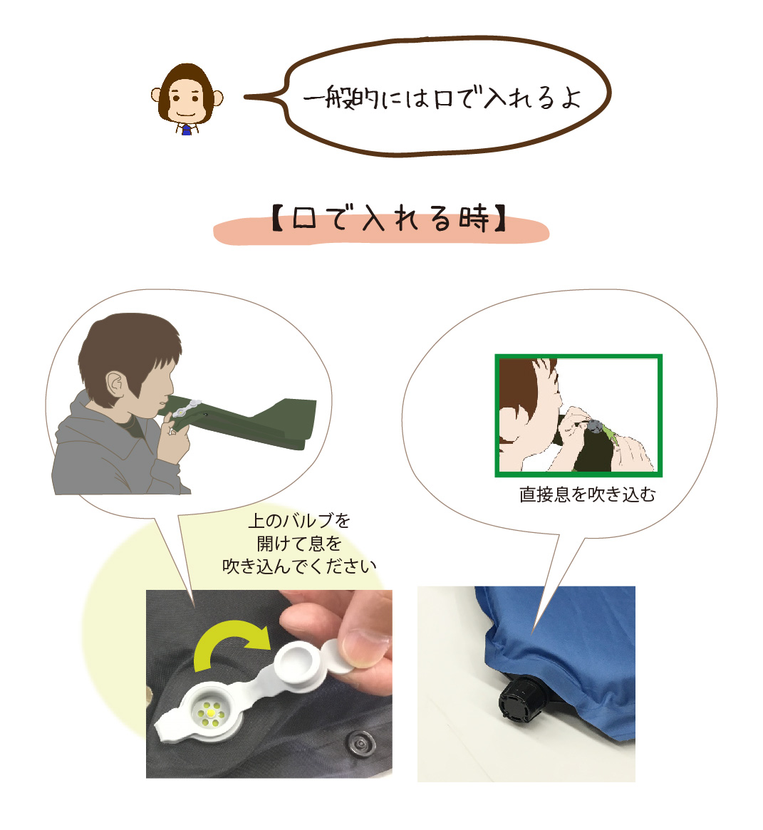 使い方④-人工的に空気を入れる方法