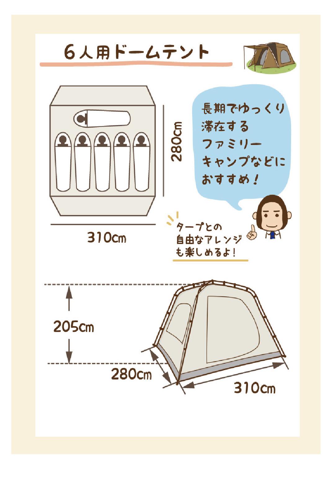 6人用ドームテント